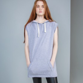 Women's Oversized Sleeveless Hoodie