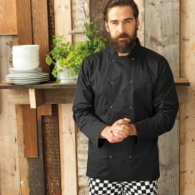 Long Sleeve Press Stud Chef''s Jacket