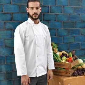 Long Sleeve Press Stud Chef''s Jacket