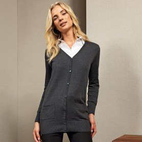 Ladies' Lon gLength Knitted Cardigan