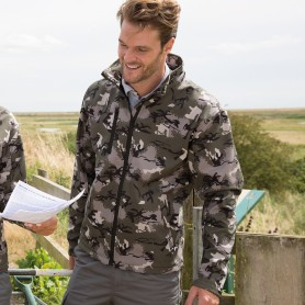 Camo TX Performance Hooded Softshell Jacket