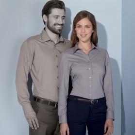 Camicia Donna - 65% Poliestere 35% Cotone - Manica Lunga