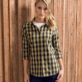 Ladies' LSL 'Mulligan' Check Cotton Bar Shirt     t