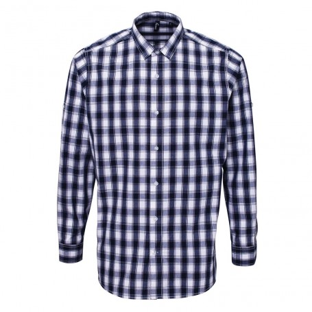Men's LSL 'Mulligan' Check Cotton Bar Shirt