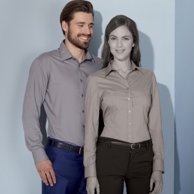 Camicia Uomo - 65% Poliestere 35% Cotone - Manica Lunga