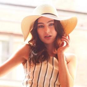 Marbella Cappello Paglia Donna Tesa Larga
