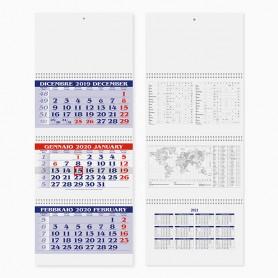 Calendario trittico da parete SPIRAL PLUS