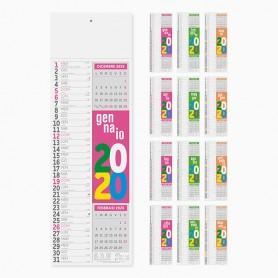 Calendario olandese da parete SLIM FLUO