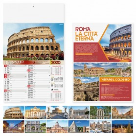 Calendario illustrato da parete ROMA