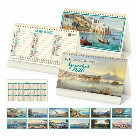 Calendario illustrato da tavolo GOUACHES