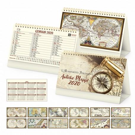 Calendario illustrato da tavolo ANTICHE MAPPE
