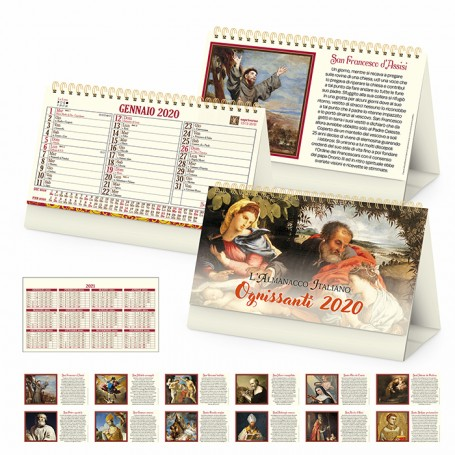 Calendario illustrato da tavolo SANTI
