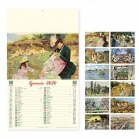 Calendario illustrato da parete ARTISTICO
