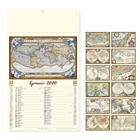 Calendario illustrato da parete ANTICHE MAPPE
