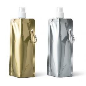 Borraccia pieghevole oro-argento GILDED