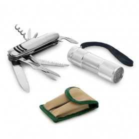 Kit outdoor con coltellino e torcia ARAD