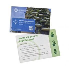 ECO-CARD cartolina, biglietto da visita, segnalibro biodegradabile