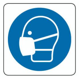 Adesivo in PVC - OBBLIGO MASCHERINA