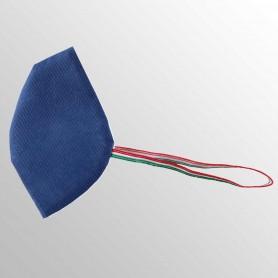 Mascherina BLU ROYAL (ITALIA) cotone + polipropilene TNT