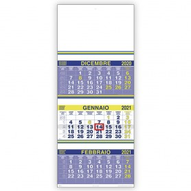 "Calendario ""Trittico con Cursore"""