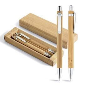 GREENY - Set con penna a sfera e matita portamina BAMBU