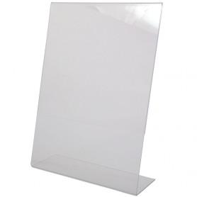 CORNICE/STAND IN PLASTICA A4 VERTICALE