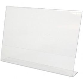 CORNICE/STAND IN PLASTICA A4 ORIZZONTALE