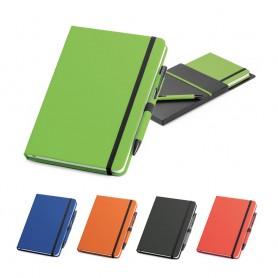 SHAW - Set di penna in metallo e block note A5
