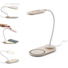 OZZEL - Lampada con caricatore wireless (Fast, 10W)