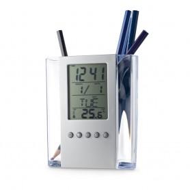 EDEM - Portapenne con orologio digitale
