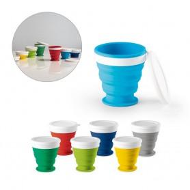 ASTRADA. Bicchiere da viaggio pieghevole da 250 ml