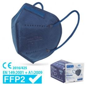MASCHERINA FACCIALE FILTRANTE FFP2 - BLU (+ gancetto)