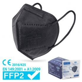 MASCHERINA FACCIALE FILTRANTE FFP2 - NERA (+ gancetto)