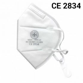 Maschera FFP2 bianca - con gancio rimovibile