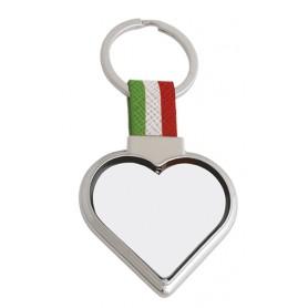 """Portachiavi """"Tricolore"""" cuore in plastica"""