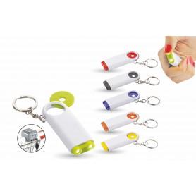 Porta chiavi-gettone con led