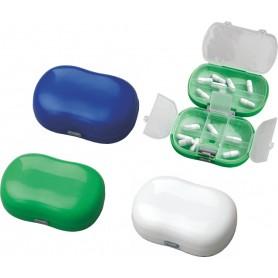 Portapillole doppio scomparto in plastica