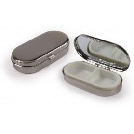 Portapillole in alluminio con specchio