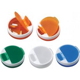 Portapillole in plastica doppia apertura