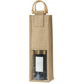 BORSA IN IUTA AD 1 POSTO / JUTE BAG FOR 1 BOTTLE