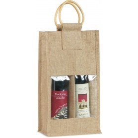 BORSA IN IUTA A 2 POSTI / JUTE BAG FOR 2 BOTTLES