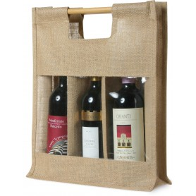 BORSA IN IUTA A 3 POSTI / JUTE BAG FOR 3 BOTTLES